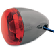 Black Nickel Turn Signal w/ Red Lens - 8501R-BN
