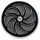 Black 8 Blade Air Cleaner Cover - ACC-8B-B