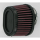 Universal Tapered Oval Clamp-On Air Filter - 3 in. x 4 in. Diameter x 2 3/4 in. Long - RU-0981