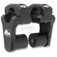 Black Anodized 2 in. Pivoting Handlebar Risers for 1 1/8 in. Bar Clamps - 1R-P2PPK