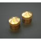 Brass Gothic Front Axle Caps - TAC100-G5