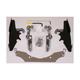 Batwing Black Trigger Lock Hardware - MEM8991