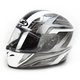Ace FG-17 White/Black/Silver Helmet