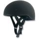 Flat Black FX-200 Slick Beanie-Style Half Helmet