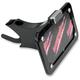 Swingarm Horizontal Side-Mount Black License Plate - LPF121-HB