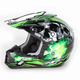 Black/Green Multi FX-17 Inferno Helmet