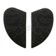 Black Airmada Chantilly Sideplates - 0133-0758
