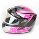 Pink/Black CS-R2SN MC-8 Seca Helmet with Framed Electric Shield
