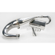 Single Pipe Tuned Exhaust System w/Ceramic Coated Canister and Pipe - 09-634