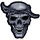 Bandana Skull Embroidered Patch - LT30124