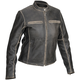 Womens Drifter Distressed Vintage Leather Jacket