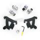 Black Trigger-Lock Hardware Kit for Cafe Fairing - MEB1995