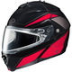 Black/Red/Silver IS-MAX  2MC-1 Elemental Snowmobile Helmet w/ Dual Lens Shield