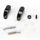 Black Custom Turn Signal Mounts for 49mm Fork Assemblies - 12-736