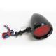Smooth Style Black Speeding Bullet Red LED Marker Light - 12-733