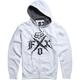 White X Fleece Zip Hoody