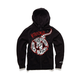 Black Busted Bone Zip Fleece Hoody