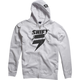 White/Black Corp Fleece Zip Hoody