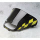 15 1/4 in. Low-Cut Black Windshield w/Yellow Checkers - 479-475-57