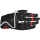 Black/White/Red Celer Leather Gloves