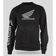 Black Honda Wing Long Sleeve T-Shirt