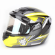Yellow/Black CS-R2SN MC-3 Seca Helmet with Framed Electric Shield