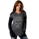 Womens Victorian Skull Long Sleeve Shirt