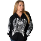 Womens Black Asphalt Angel Zip Hoody