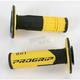 801 Hybrid Duo-Density Cross Grips - 801BLK/YEL