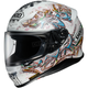 White/Blue/Yellow RF-1200 Graffiti TC-6 Helmet