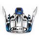 Black/Blue/White CS-MX Stagger Helmet Visor - 60-8137B