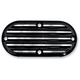 Black Finned Billet Inspection Cover - 06-95TC
