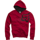 Red Durban Sherpa Zip Hoody