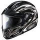 Black/Silver/White CL-MAXBTII SN MC-5 Atomic Helmet w/Framed Dual Lens Shield
