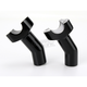 3.5 in. Black Risers with 1 in. Pullback - 0602-0413