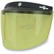 Yellow Three-Snap Flip Bubble Shield/Visor - 0131-0077