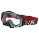 Black/White/Red Fire Thorn Radius Pro Moto Goggles w/Single Clear Lens - 3059-000-100-000