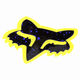 Purple/Yellow 4 in. Splatter Sticker - 14899-178-OS