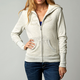 Womens Heather Pearl Interface Sherpa Zip Hoody