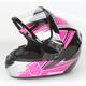 Pink/Black CS-R2SN MC-8 Seca Helmet with Framed Dual Lens Shield