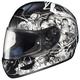Black/Black/White Virgo CL-16 Helmet