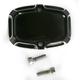 Rear Black Beveled Brake Master Cylinder Cover - 03-411
