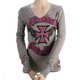 Womens Indian Larry Long Sleeve Thermal Tee