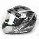 Dark Silver/Black/Silver CS-R2SN MC-5 Seca Helmet with Framed Electric Shield