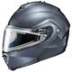 Anthracite IS-Max 2 Snowmobile Helmet w/Electric Shield
