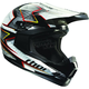 Black/White/Gray Quadrant Spiral Helmet
