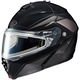 Black/Dark Silver/Silver IS-MAX 2 MC-5 Elemental Snowmobile Helmet w/Electric Shield