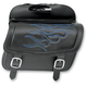 Large Highwayman Tattoo Saddlebags w/Blue Flames - 3501-0773