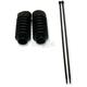 BLACK POLY-VINYL FORK BOOTS - F00245-BK-03
