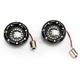 Black Bullet Ringz w/Red LED Turn Signals - BTRB-RR-1156-S